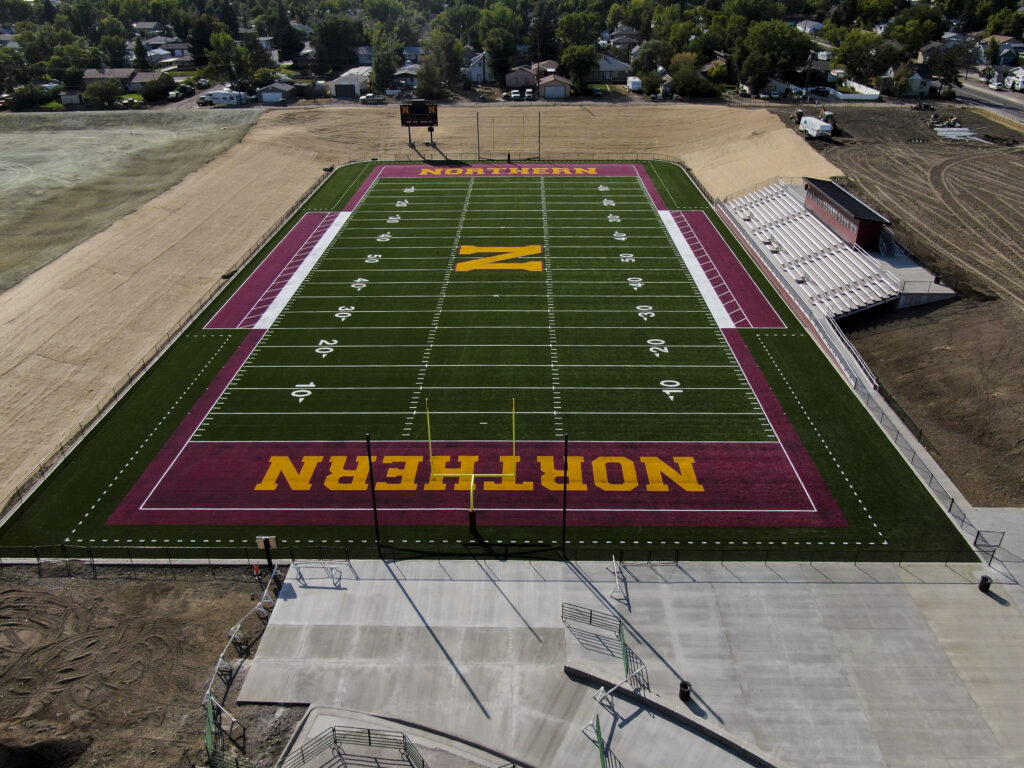 Our home turf, ready for action!